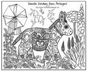 adulte ane motifs dessin à colorier