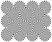 Coloriage difficile illusion optique 2