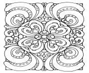 abstrait zen dessin à colorier