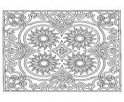 difficile symetrie tournesols dessin à colorier