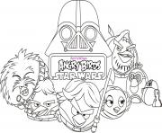 Coloriage angry birds star wars 8