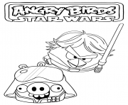 star wars angry birds dessin à colorier