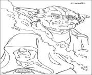 Coloriage personnages de star wars yoda dessin