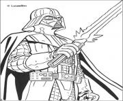 Coloriage star wars angry birds dessin
