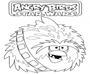 Coloriage angry birds star wars 91