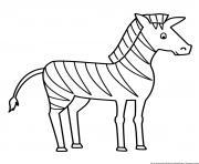 zebre 40 dessin à colorier