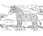 zebre savane dessin à colorier