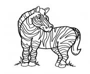 zebre dessin à colorier