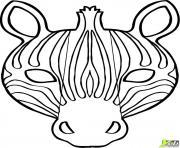 zebre 10 dessin à colorier