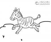 zebre 11 dessin à colorier
