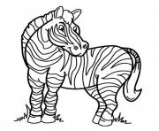 Coloriage adorable zebre animal maternelle