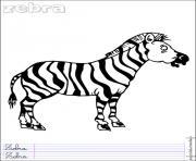 zebre 14 dessin à colorier
