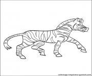 zebre 34 dessin à colorier
