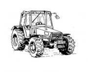 Coloriage Tracteur Avec Charrue Jecolorie Com