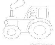 tracteur 61 dessin à colorier
