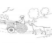 tracteur de ferme dessin à colorier