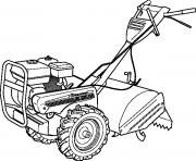 Coloriage tracteur mini rapide efficace dessin