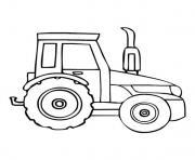 Coloriage tracteur tom cartoon dessin