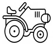 Coloriage tracteur tom grande taille hd dessin