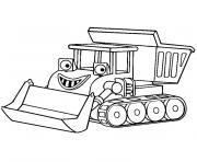 tracteur avec charrue dessin à colorier