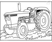 Coloriage Tracteur Claas