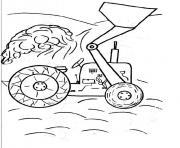Coloriage tracteur 129 dessin