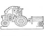 Coloriage tracteur fourche dessin