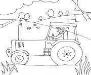 Coloriage De Ferme Avec Tracteur Et Animaux.Coloriage Tracteur A Imprimer Dessin Sur Coloriage Info