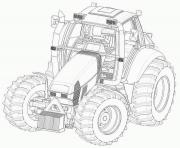 Coloriage grand tracteur complexe adulte dessin