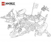 Coloriage LEGO Ninjago Cole Fighting Skeletons dessin