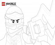 Coloriage Ninjago equipe de trois portrait dessin