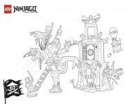 Coloriage combat entre ninjagos  dessin