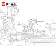 Coloriage LEGO Ninjago Cole Tournament of Elements dessin