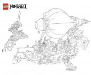 Coloriage ninjago le film mechants ninjagos lego dessin