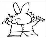 trotro sait comment se brosser les dents dessin à colorier