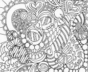 Coloriage art therapie 1 dessin