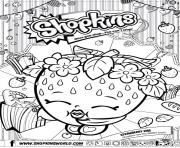 shopkins strawberry kiss dessin à colorier