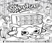 shopkins cheeky chocolate dessin à colorier