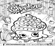 shopkins cupcake queen dessin à colorier