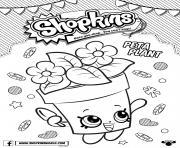 shopkins peta plant dessin à colorier