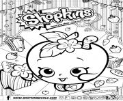 shopkins apple blossom dessin à colorier