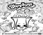 shopkins suzie sundae dessin à colorier