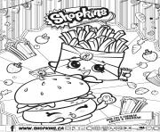 Shopkins Wise Fry Cheddar bilingual dessin à colorier