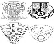 euro 2016 france foot espagne croatie republiquetcheque turquie dessin à colorier