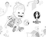 mascotte euro 2016 france uefa dessin à colorier