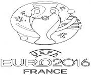 logo euro 2016 france football foot dessin à colorier