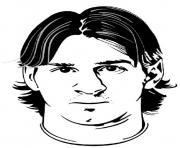 lionel messi soccer portrait barcelone argentine dessin à colorier