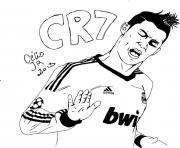 cr7 cristiano ronaldo but oklm dessin à colorier