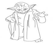 Coloriage yoda star wars dessin