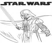 Coloriage dark vador star wars